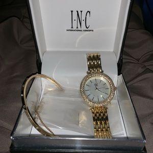 I.N.C. Bracelet and Watch Set